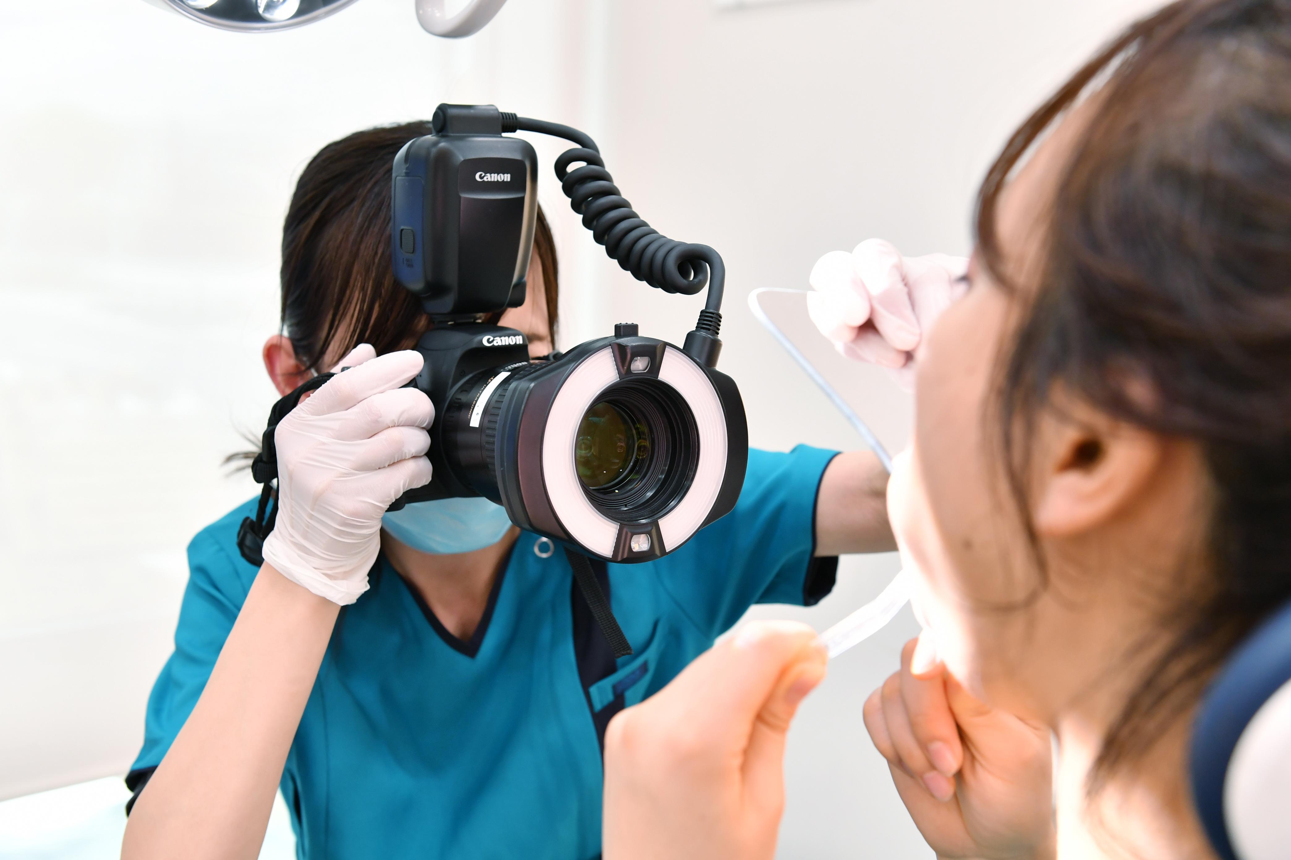 口腔内写真の撮影
